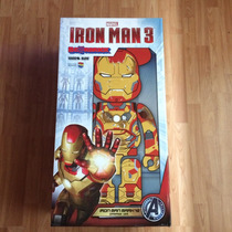 Bearbrick Iron Man 3 Mark 42 Damage Ver. 1000% Medicom Toys