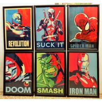 Cuadros De Iron-man, Star Wars, Dc, Batman, Marvel.