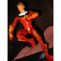 Human Torch Fantasticos Marvel Legend Spiderman Batman X Men