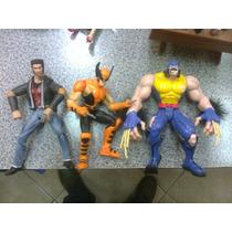 Marvel Lote De 3 Wolverines, Pelicula, Caricatura Y Comics!!