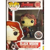 Funko Pop Black Widow Escudo Capitán América Edición Especia