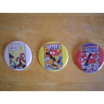 3 Botones De Spiderman 100.00 Por Los 3