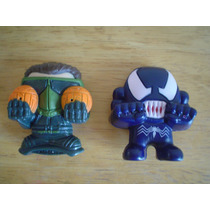 2 Mini Figuras De Spidermen Miden 6 Cms