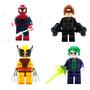 Spiderman Joker Gatubela Wolverine Compatibles Con Lego