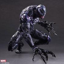 Venom Play Arts Kai Marvel Comics Spiderman Figuea En Mano