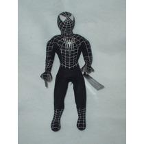 Spiderman Con Traje Negro De 37cms El Hombre Araña Original