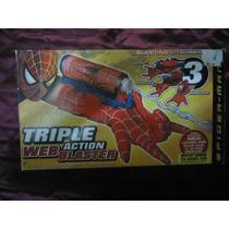 Spider Man Web Blaster Pistola Lanza Agua Y Dardos Guantes