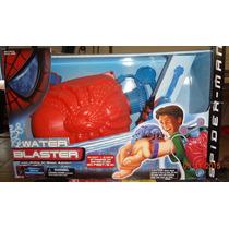 Spider-man Backpack Water Web Blaster W/pump N Blast Action
