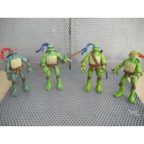 Set De Figuras Tortugas Ninja Pelicula Con Accesorios!
