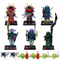 Set 6 Minifiguras Ninjas Ninjago Compatible Con Lego