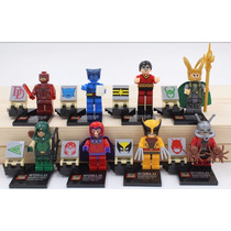 8 Minifiguras Superhéroes Villanos Marvel Dc Compatible Lego