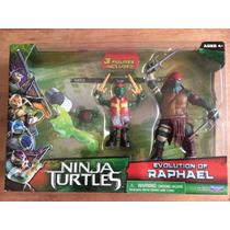 Turtles Ninja Movie 2014 Raphael Evolution 3 Figuras