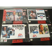 Super Nintendo. Madden 93,94,95 Y 96 Completos