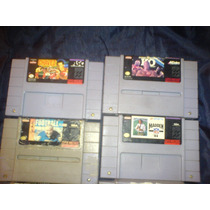 Cartuchos De Super Nintendo Precio 35.00 Cada Uno