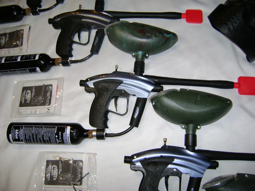 Super Paquete Marcadora Gotcha O Paintball Dvn
