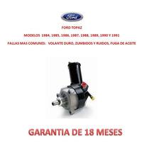 Bomba Licuadora Direccion Hidraulica P/caja Ford Topaz
