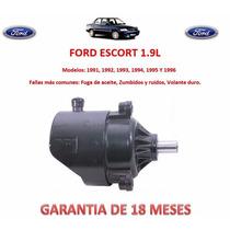 Bomba Licuadora Direccion Hidraulica Ford Escort 1991 A 1996