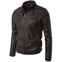 Chamarra Abrigo Hombre Leather Chest Pocket Envio Gratis!