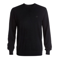 Sueter Tejido Liso Negro Sabotage M Hombre Sprng Dc Shoes