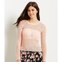 Aeropostale Sueter Para Dama Ligero Crochet Talla Xxl Nuevo