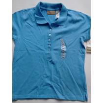 Blusa Tipo Polo Azul Liz Claiborne Nueva