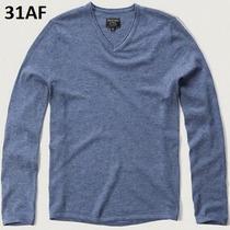 S - Sueter Abercrombie Azul Ropa De Hombre 100% Original