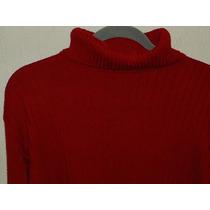 Sweater Zara Rojo Cuello Alto Como Nuevo Talla 42