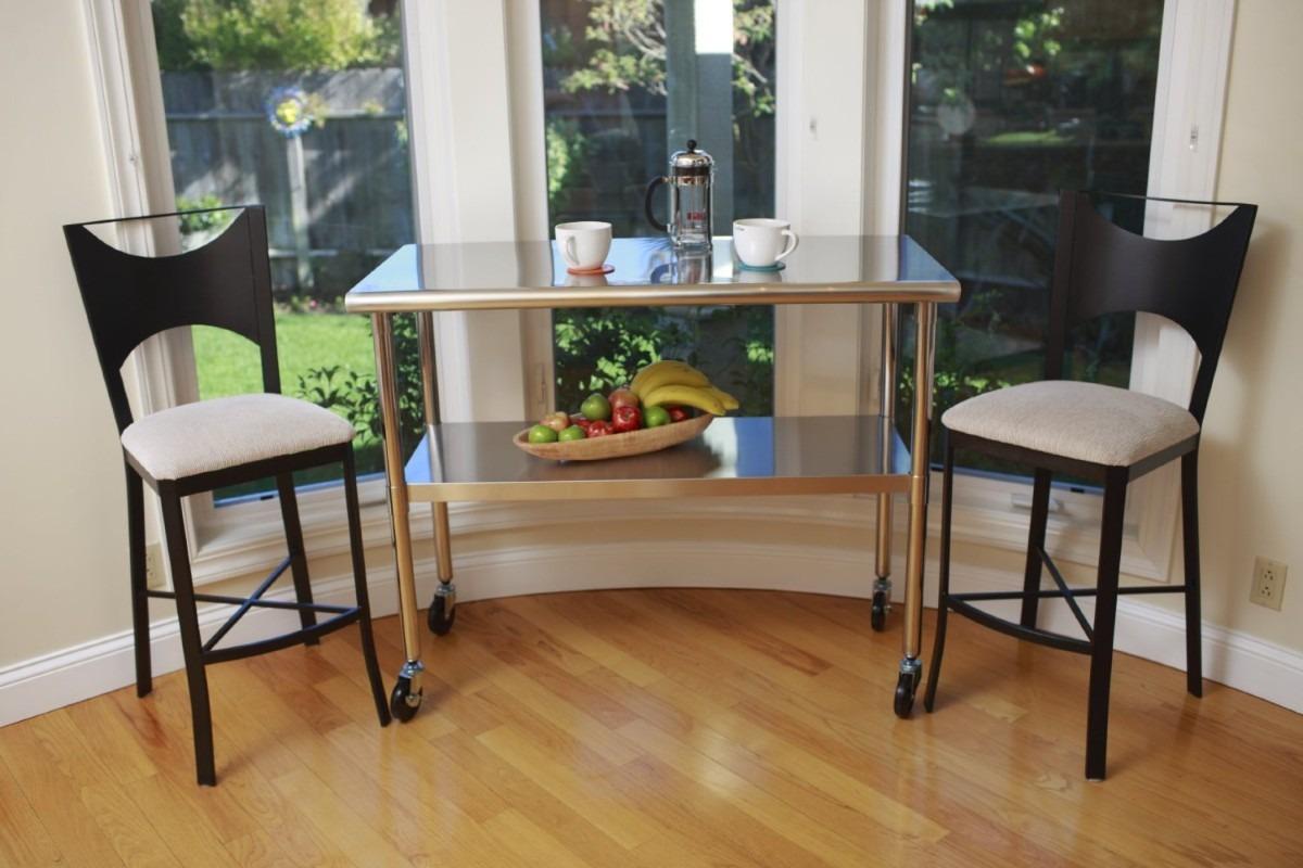 Tabla mesa de trabajo cocina acero inoxidable auxiliar hm4 - Mesa trabajo cocina ...