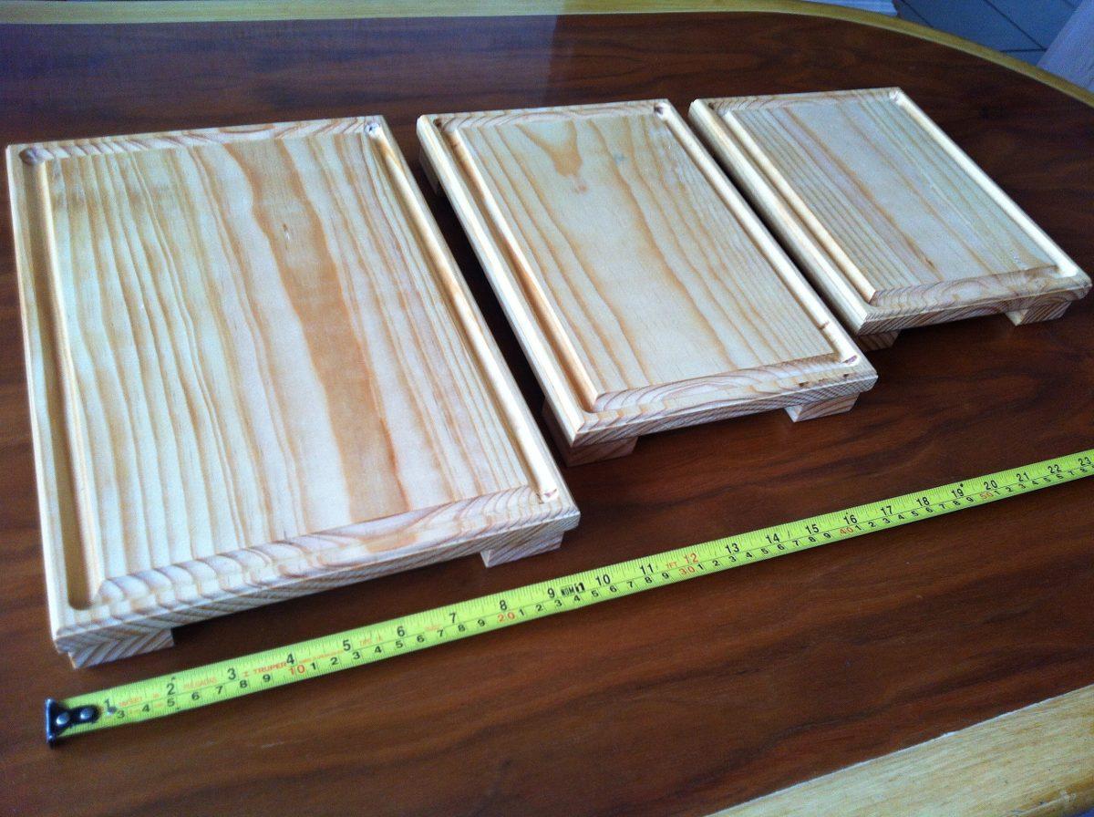 Tablas madera juego de 3 platos para picar sushi carnes - Tablas de madera precio ...