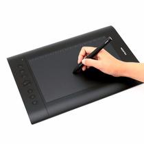 Tablet Tableta Dibujo Huion H610pro Usb Diseño Arte - Negro