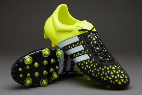 sports shoes 53d88 86553 taco adidas ace x 15.1 fxg negro verde profecional piel