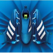 Tenis Adidas Ace 16 Pure Control Blue Tachones Ace16 Tacos