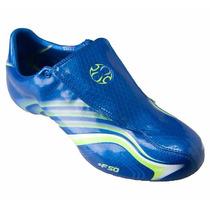 T 30mx Adidas Tacos Futbol Soccer F50.6 Tunit Azul Verde Gym