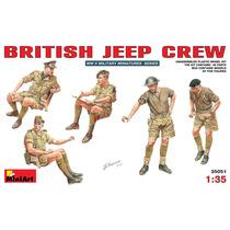 Soldados Modelo - British Jeep Crew 1:35 Miniart Plástico