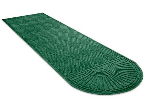 Tapete tipo alfombra medio ovalo color verde de 91x304 cm for Alfombra verde para jardin
