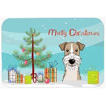 Árbol De Navidad Y Cabelludo Del Alambre Fox Terrier De Coc