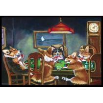 Corgi Jugar Poker Mat Interiores O Exteriores De 24x36 7416j