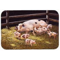 Cerdos Lechones En La Cena Tiempo De Cocina O Baño Mat 24x3