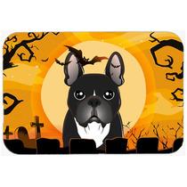 Bulldog Francés De Halloween De Cocina O Baño Mat 20x30 Bb