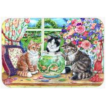Gatos Just Looking En La Pecera De Cocina O Baño Mat 20x30