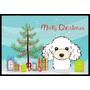 Árbol De Navidad Y Caniche Blanco Mat Interiores O Exterior