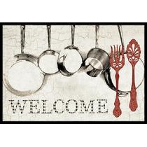 Ollas Y Sartenes Bienvenido Mat Interiores O Exteriores De 2