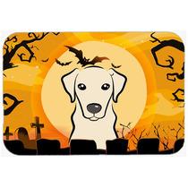 De Halloween Labrador Amarillo De La Cocina O El Baño Mat 2