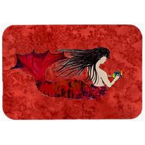 Cabelludo Negro De La Sirena En Rojo De La Cocina O El Baño