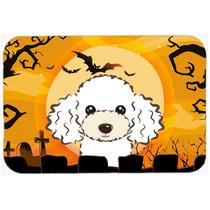 Caniche Blanco De Halloween De Cocina O Baño Mat 24x36 Bb18