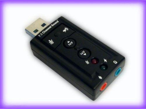 Tarjeta De Sonido Usb Audio 7.1 Canales 3d