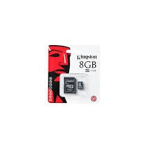 Micro Sd 8gb Kingston Cl4 Con Adaptador Sd