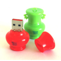 Adaptador De Memoria Microsd Figuras Jarron Mini Lector Usb