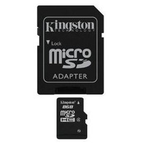Memoria Kingston 8 Gb Microsdhc Clase 4 Con Fichas Sdc4 / 8g