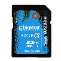 Memoria Sd 32gb Kingston Sda10/32gb Ultimate Sdhc Cl10 +c+